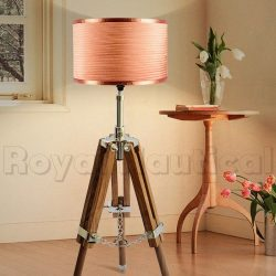 Mini Teak Wood Tripod Lamp (6)