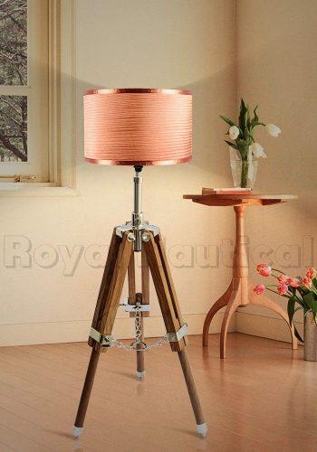 Mini Teak Wood Tripod Lamp (6)