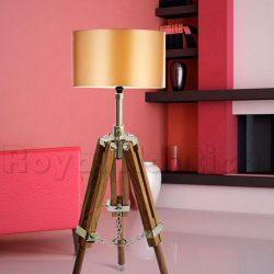 Designer Mini Wooden Tripod Lamp